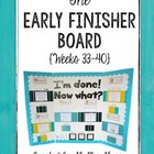 The Grade 5-6 Early Finisher Board {Weeks 33-40}