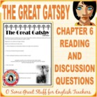 The Great Gatsby Chapter 6 Activity