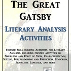 The Great Gatsby Literary Analysis Activity Pack