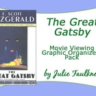 The Great Gatsby Movie Viewing Graphic Organizer Bundle