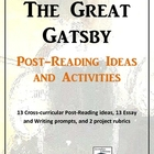 The Great Gatsby Post-Reading Activity Pack