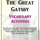 The Great Gatsby Vocabulary Activity Pack