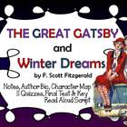 The Great Gatsby and Winter Dreams Teacher Pack