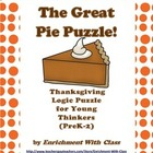 The Great Pie Puzzle- Logic and Critical Thinking Activity