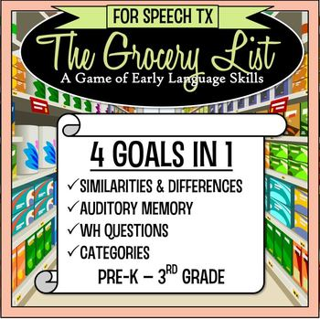 Speech Therapy Game: 4 Early Language Goals in 1!