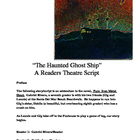"""The Haunted Ghost Ship"" A Readers Theatre Script [Theater"
