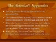 The Historian&#039;s Apprentice; Slide Show Presentation