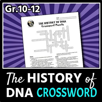 The History of DNA - Crossword