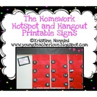 The Homework Hangout and The Homework Hotspot Printable Sign