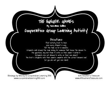 The Hunger Games - Cooperative Group Learning Activity