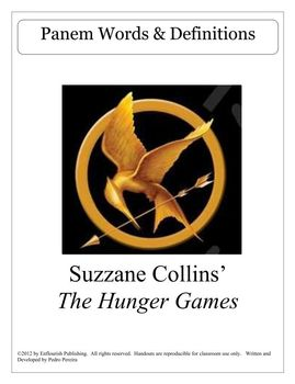 The Hunger Games Panem Words & Definitions FREE