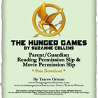 The Hunger Games Permission Slips for Reading & Movie