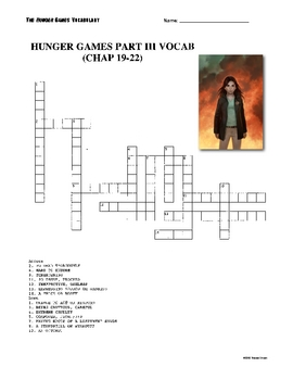The Hunger Games Vocabulary 27 Chapters + Puzzles