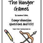 The Hunger Games, by S. Collins, Comprehension Questions &amp; KEY