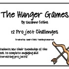 The Hunger Games, by S. Collins, Project Challenges, Set of 12