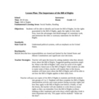 The Importance of The Bill of Rights - Lesson Plan