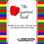 The Important Book - writing activities to make a class book