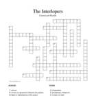 """The Interlopers"" (Saki) Vocabulary Crossword Puzzle (no bank)"