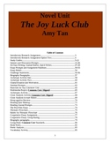 The Joy Luck Club Unit Plan. 89 pages of activities and handouts