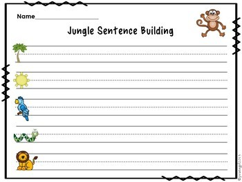 The Jungle (Sentence Building Activity)