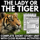 The Lady or The Tiger - Questions, Vocabulary, Activities