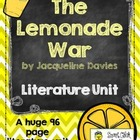 """The Lemonade War"", by J. Davies, Literature Unit, 50 Tota"
