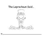 The Leprechaun Said... (Kindergarten)