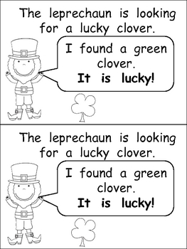 The Leprechaun is Looking Emergent Reader- Kindergarten- S