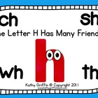 The Letter H Has Many Friends for the Smart Board, IWB,  o