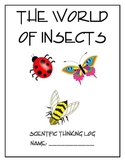 Life Cycle and Insect Scientific Notebook