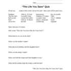 &quot;The Life You Save May Be Your Own&quot; by O&#039;Connor Quiz