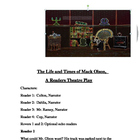 &quot;The Life and Times of Mack Olson&quot; A Readers Theatre Scrip