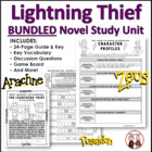 The Lightning Thief Reading Novel Activities Common Core S