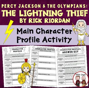 The Lightning Thief Unit: Lessons, Activities, Worksheets on CD