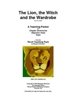 The Lion, the Witch. . .    Chapter Summaries/Objective Te