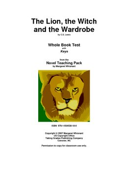 The Lion, the Witch, and the. . . .   Whole Book Test