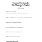 The Magician&#039;s Nephew by C.S. Lewis: Chapter Questions and