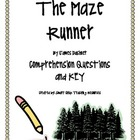 &quot;The Maze Runner&quot;, by J. Dashner, Comprehension Questions and KEY