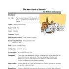 The Merchant of Venice - Key Facts