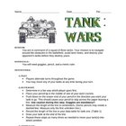 The Metric Tank Wars Worksheet