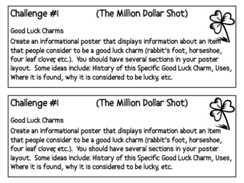 """The Million Dollar Shot"", by D. Gutman, Project Challenges"