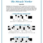 The Miracle Worker: 10 Quotefall Word Puzzles--Challenging