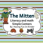 The Mitten Fun - Literacy and Math Activities