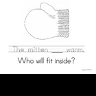 The Mitten Sentence Writing Practice