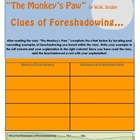 """The Monkey's Paw"" Elements of Foreshadowing Chart"