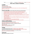 &quot;The Monkey&#039;s Paw&quot; Story Analysis / Literary Term Worksheet