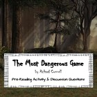 The Most Dangerous Game: Pre-Reading Activity &amp; Story Questions