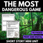 The Most Dangerous Game - Questions, Vocab, Activities, Projects