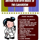 Music and Rhythm Activity Packet -Curriculum Memorization