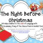 The Night Before Christmas Vocabulary Study Booklet